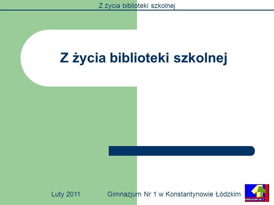 Z życia biblioteki szkolnej