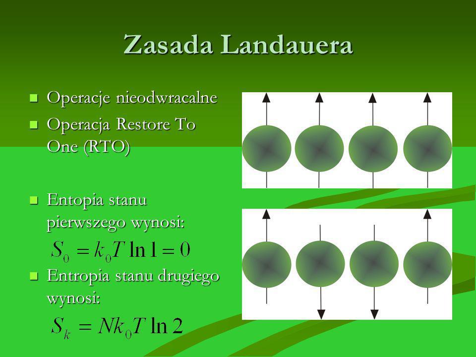 Zasada Landauera Operacje nieodwracalne Operacja Restore To One (RTO)