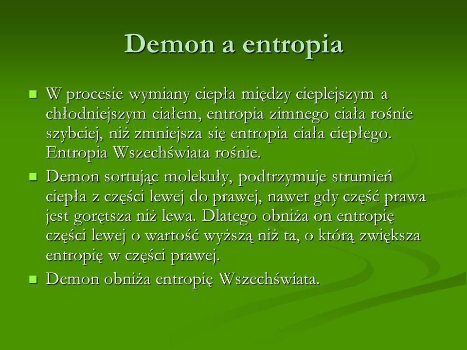 Demon a entropia