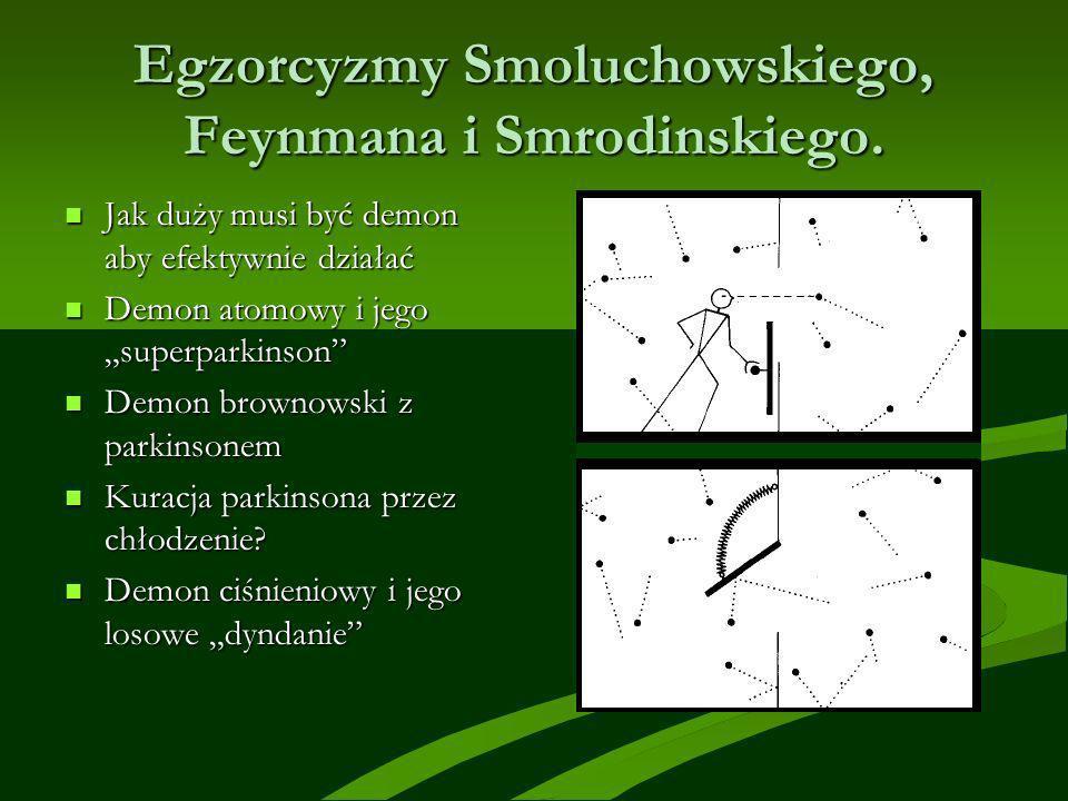 Egzorcyzmy Smoluchowskiego, Feynmana i Smrodinskiego.