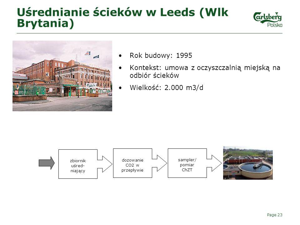 Uśrednianie ścieków w Leeds (Wlk Brytania)