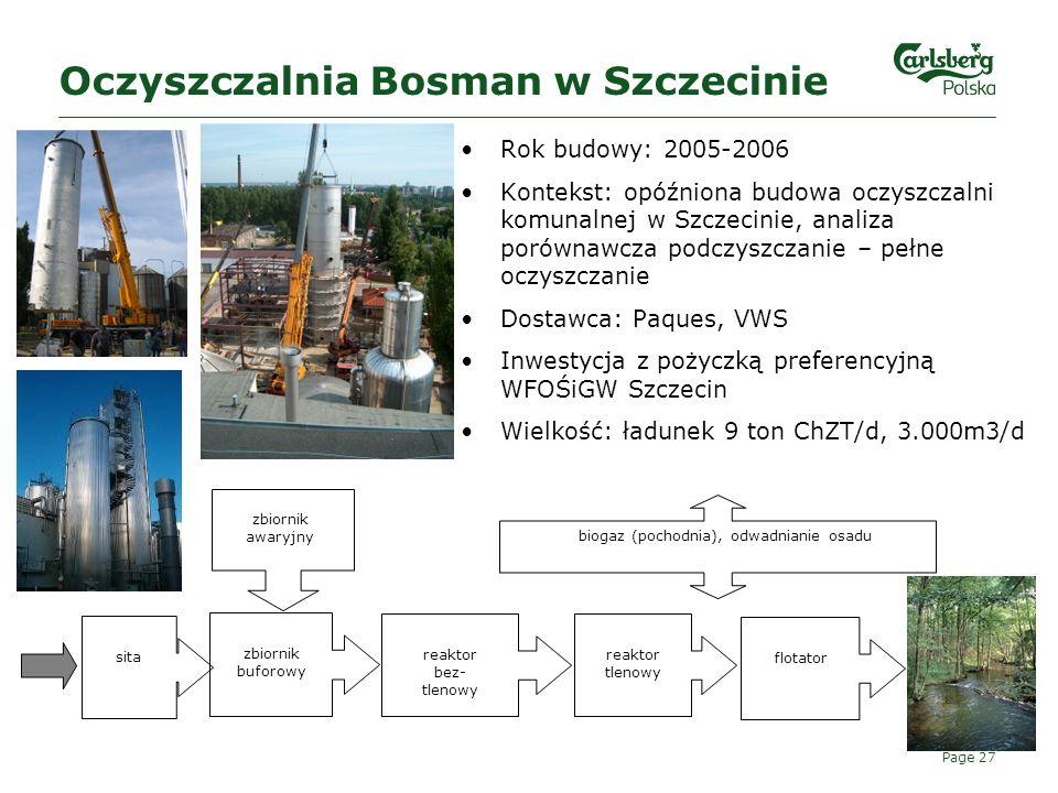 Oczyszczalnia Bosman w Szczecinie