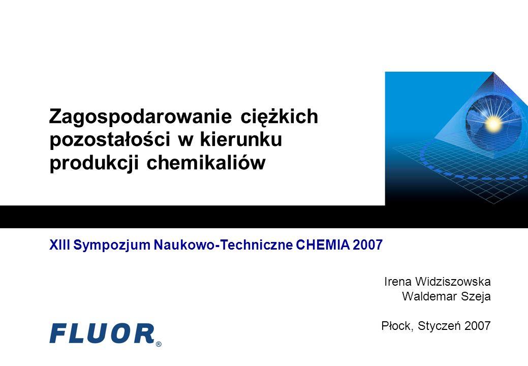 Zagospodarowanie ciężkich pozostałości w kierunku produkcji chemikaliów