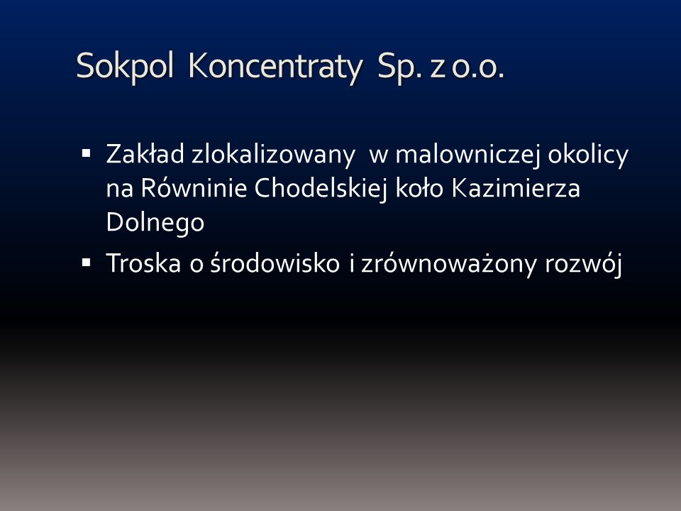 Sokpol Koncentraty Sp. z o.o.