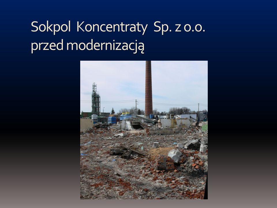 Sokpol Koncentraty Sp. z o.o. przed modernizacją