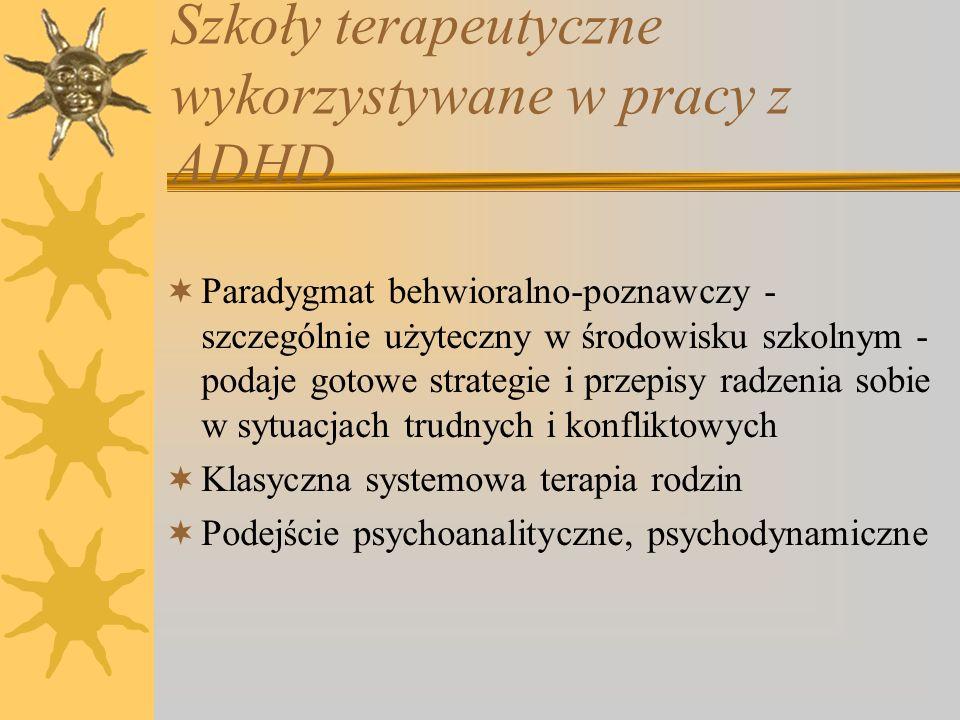 Szkoły terapeutyczne wykorzystywane w pracy z ADHD