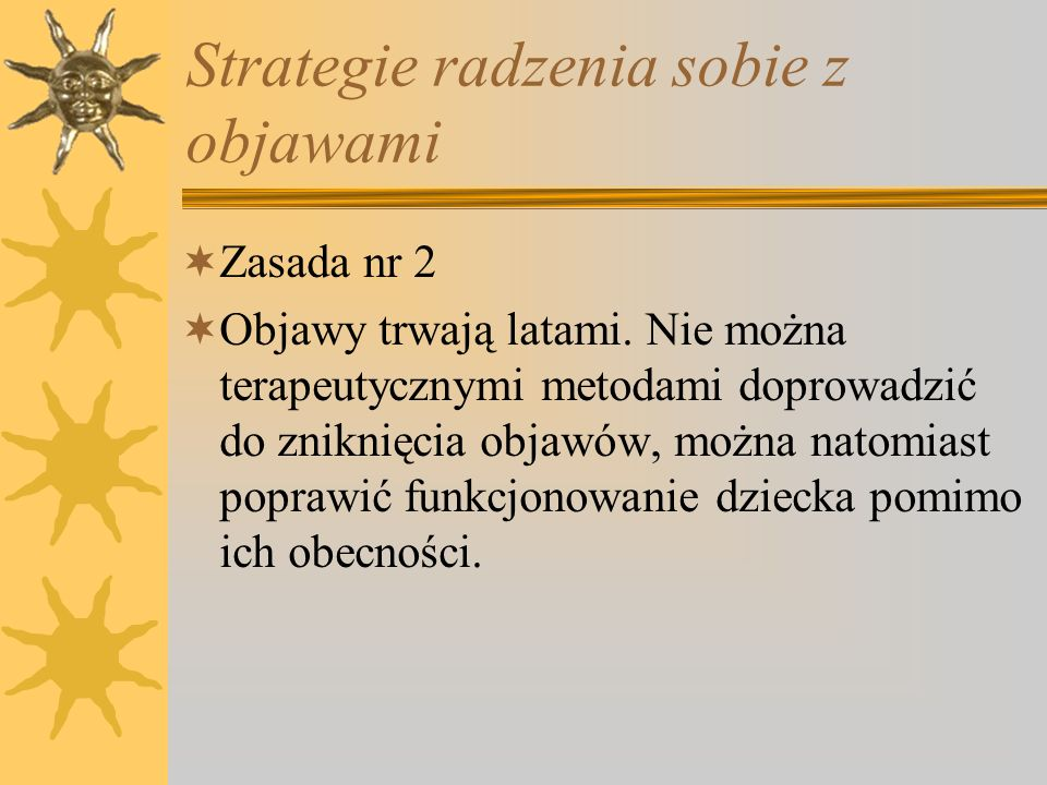 Strategie radzenia sobie z objawami