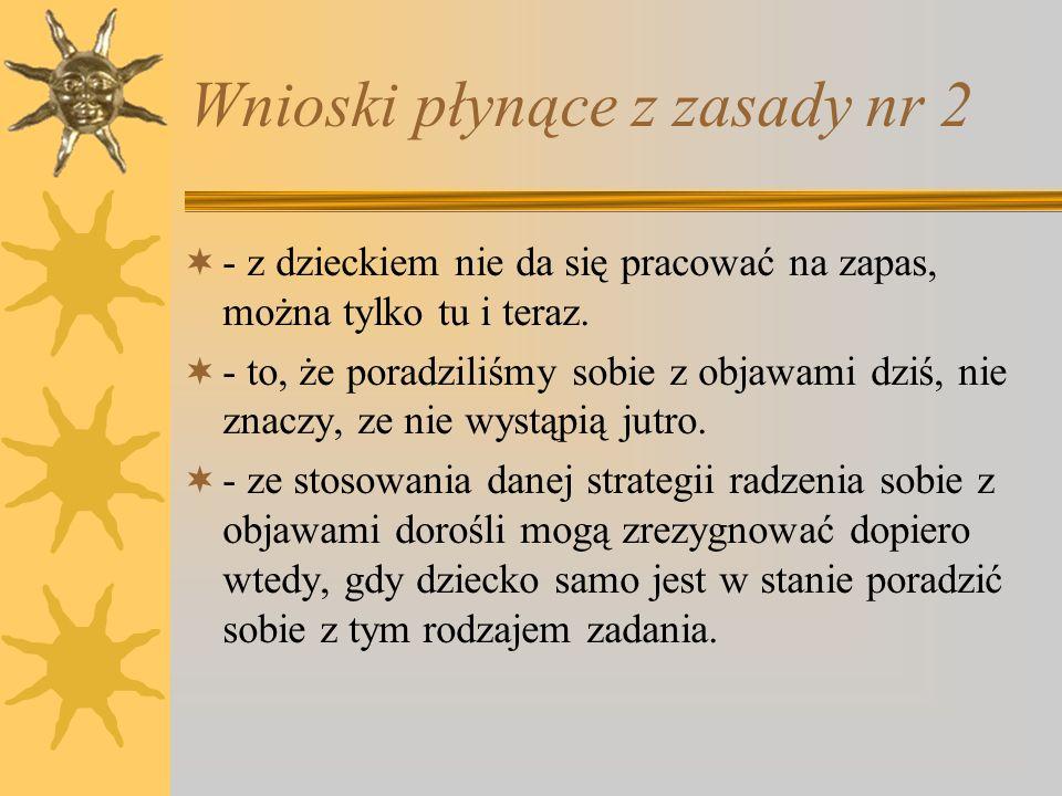 Wnioski płynące z zasady nr 2