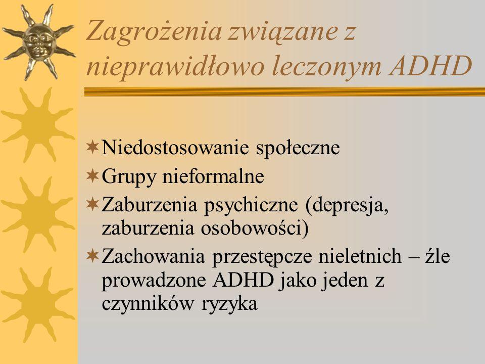 Zagrożenia związane z nieprawidłowo leczonym ADHD