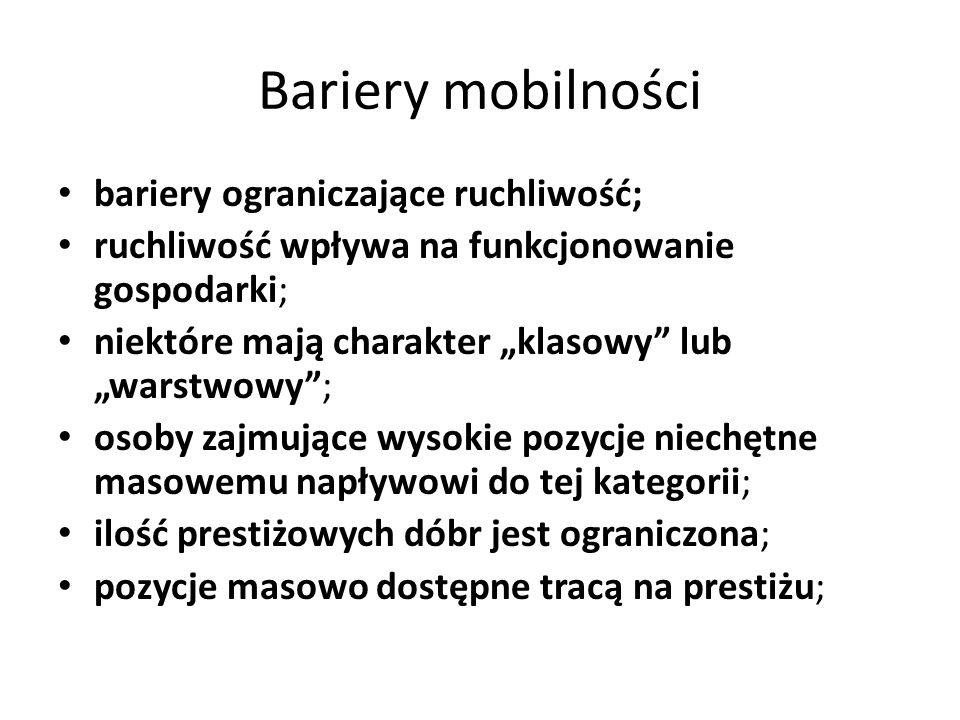 Bariery mobilności bariery ograniczające ruchliwość;