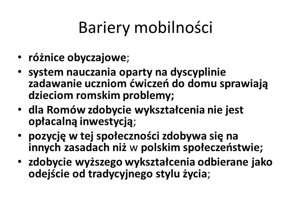 Bariery mobilności różnice obyczajowe;