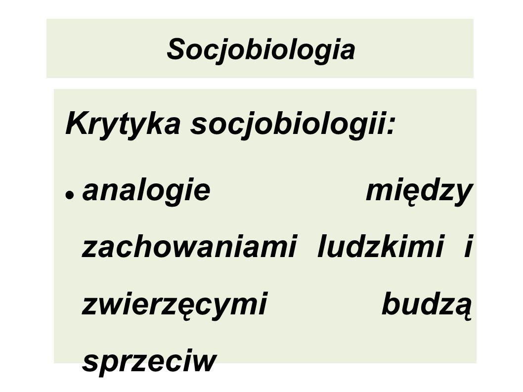 Krytyka socjobiologii: