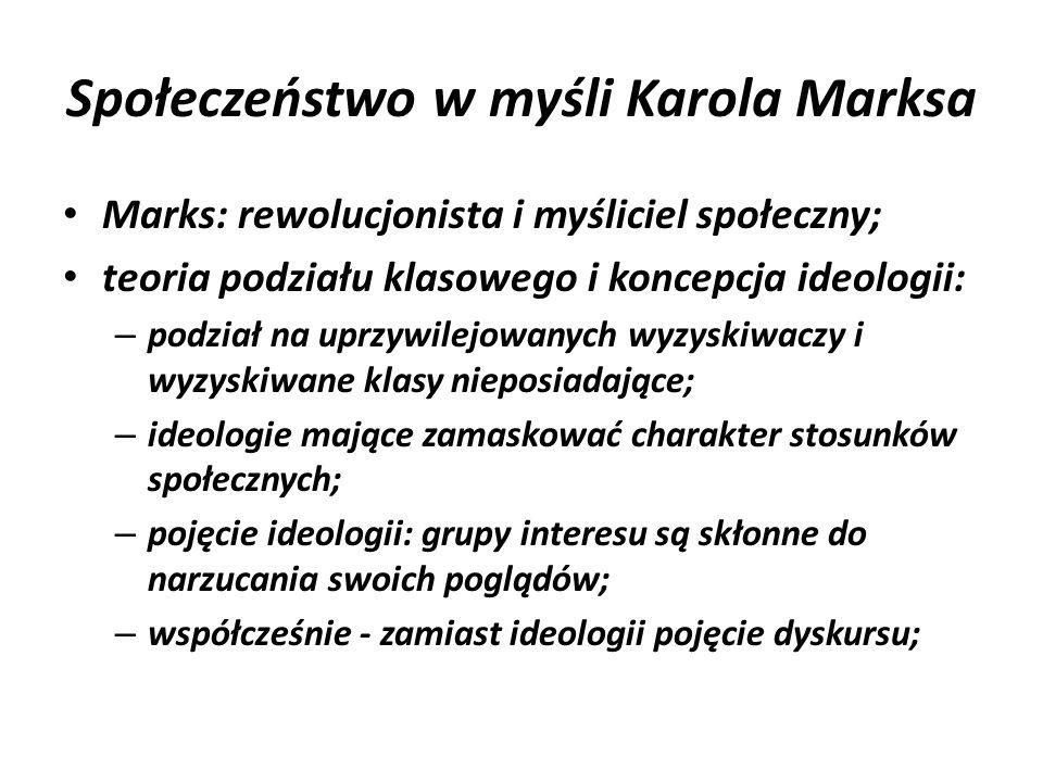 Społeczeństwo w myśli Karola Marksa