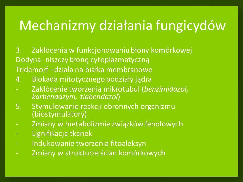 Mechanizmy działania fungicydów