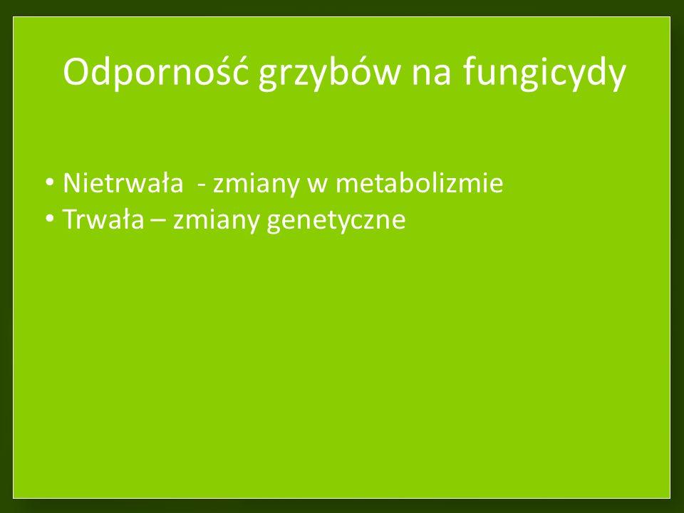 Odporność grzybów na fungicydy