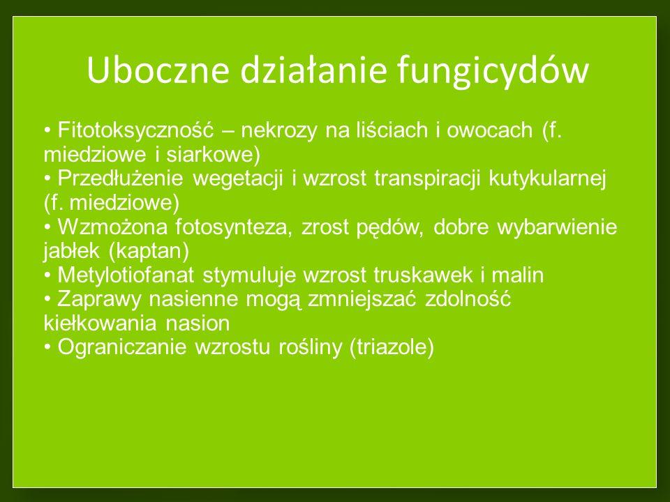 Uboczne działanie fungicydów
