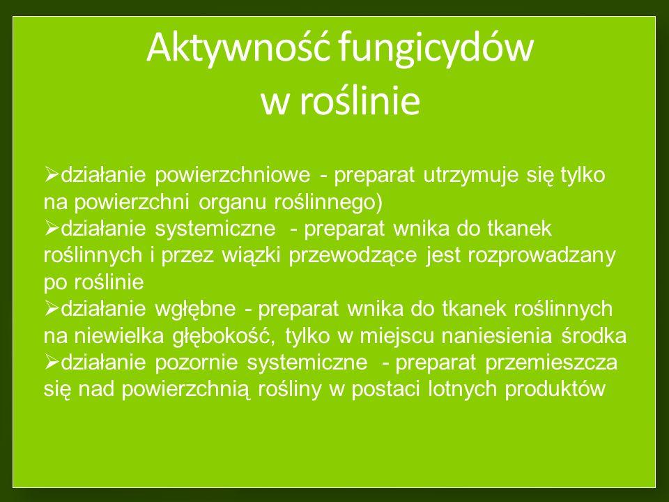 Aktywność fungicydów w roślinie