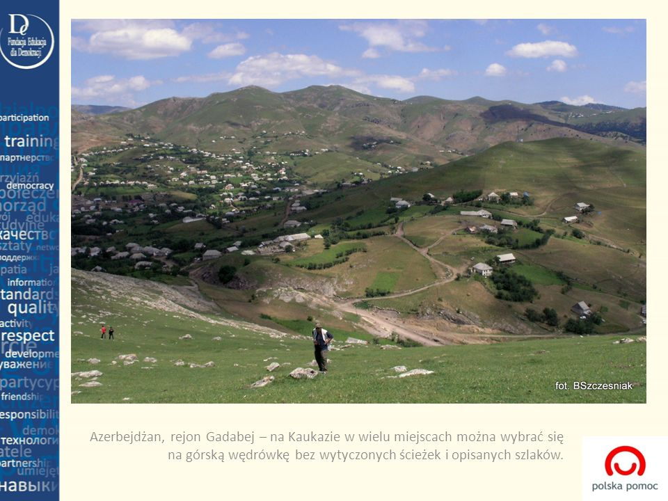 Azerbejdżan, rejon Gadabej – na Kaukazie w wielu miejscach można wybrać się na górską wędrówkę bez wytyczonych ścieżek i opisanych szlaków.