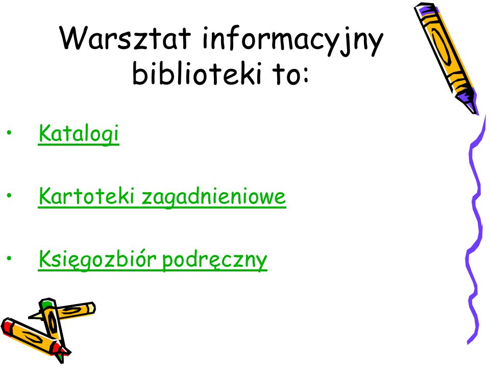 Warsztat informacyjny biblioteki to: