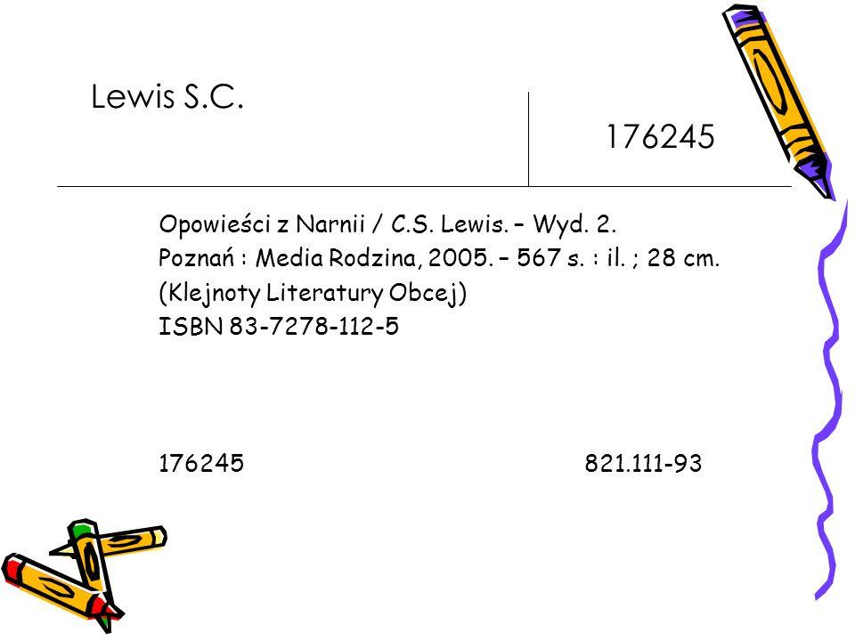 Lewis S.C. 176245 Opowieści z Narnii / C.S. Lewis. – Wyd. 2.