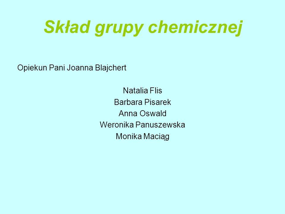 Skład grupy chemicznej