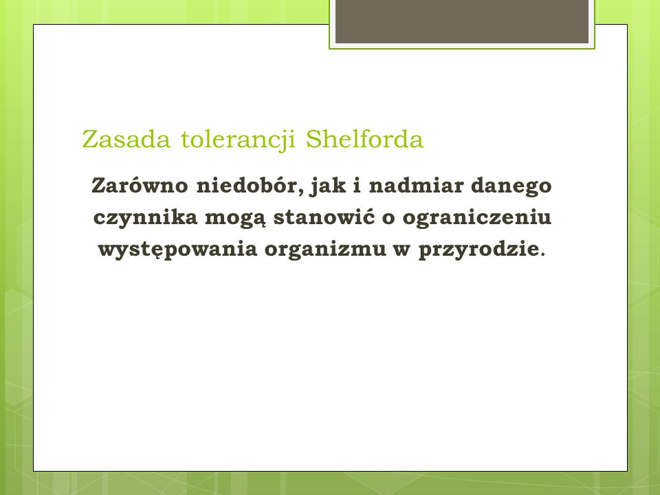 Zasada tolerancji Shelforda