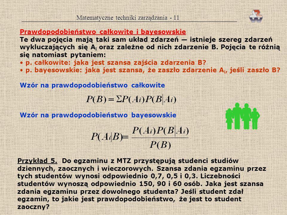 Matematyczne techniki zarządzania - 11