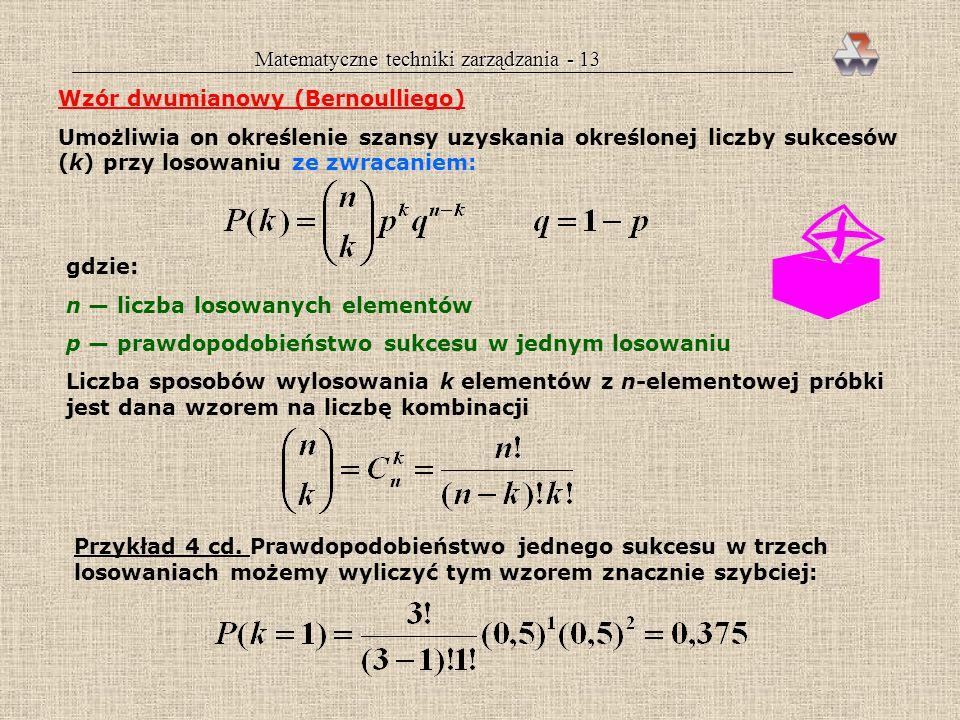 Matematyczne techniki zarządzania - 13