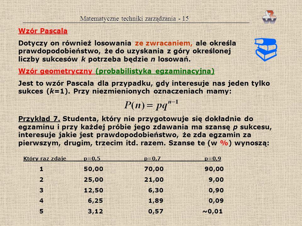 Matematyczne techniki zarządzania - 15
