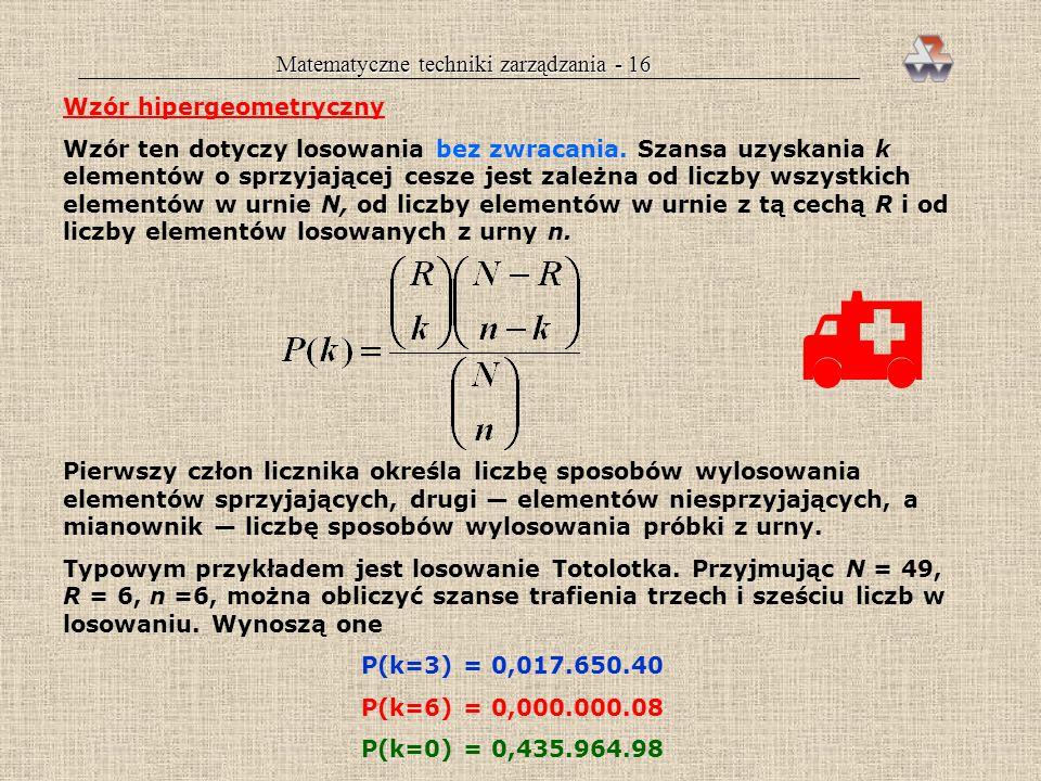 Matematyczne techniki zarządzania - 16