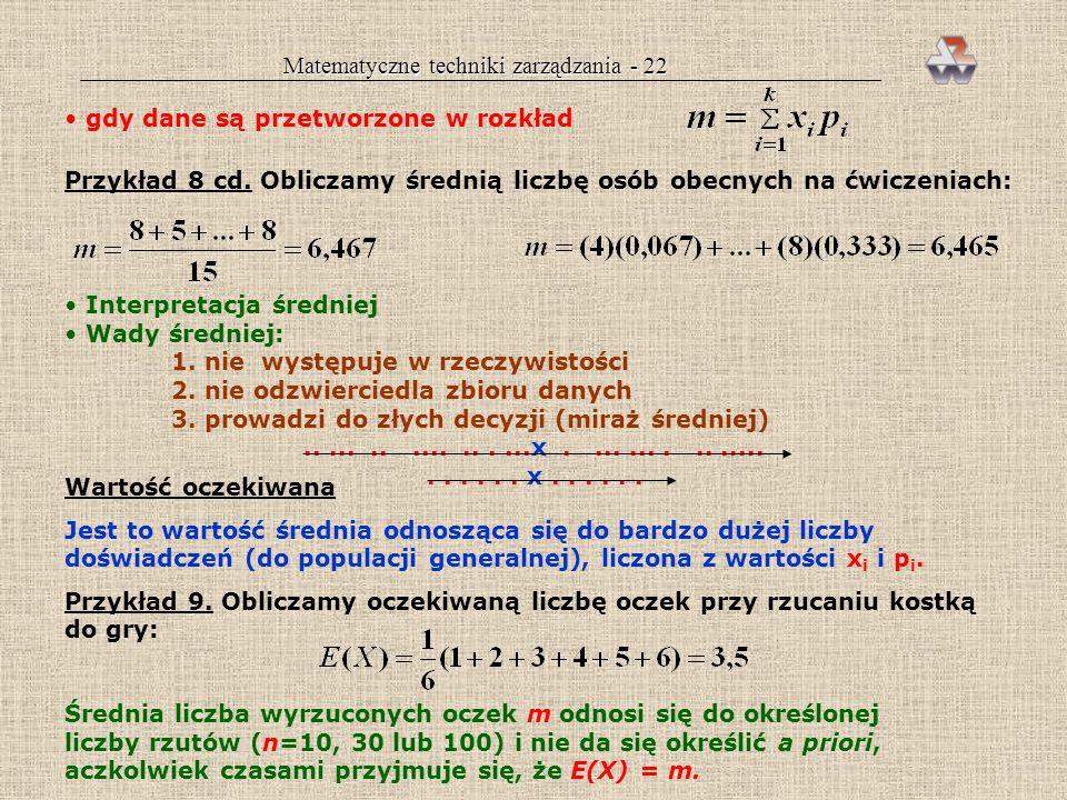 Matematyczne techniki zarządzania - 22