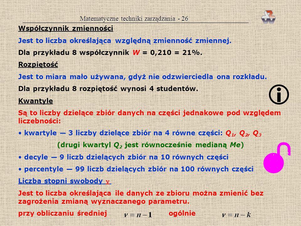 (drugi kwartyl Q2 jest równocześnie medianą Me)