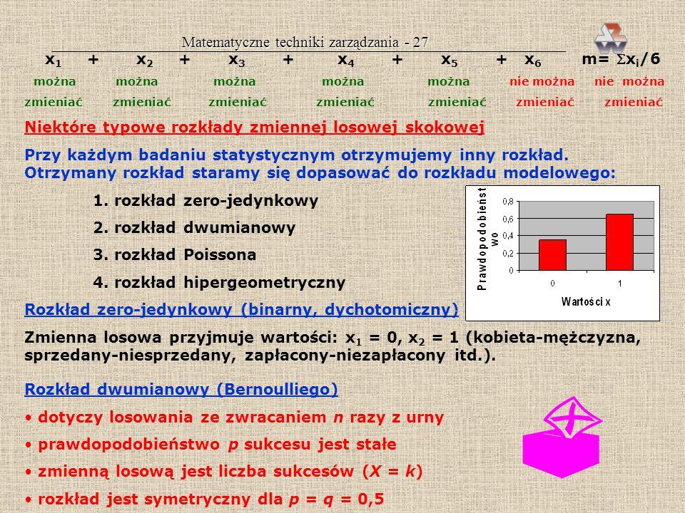 Matematyczne techniki zarządzania - 27