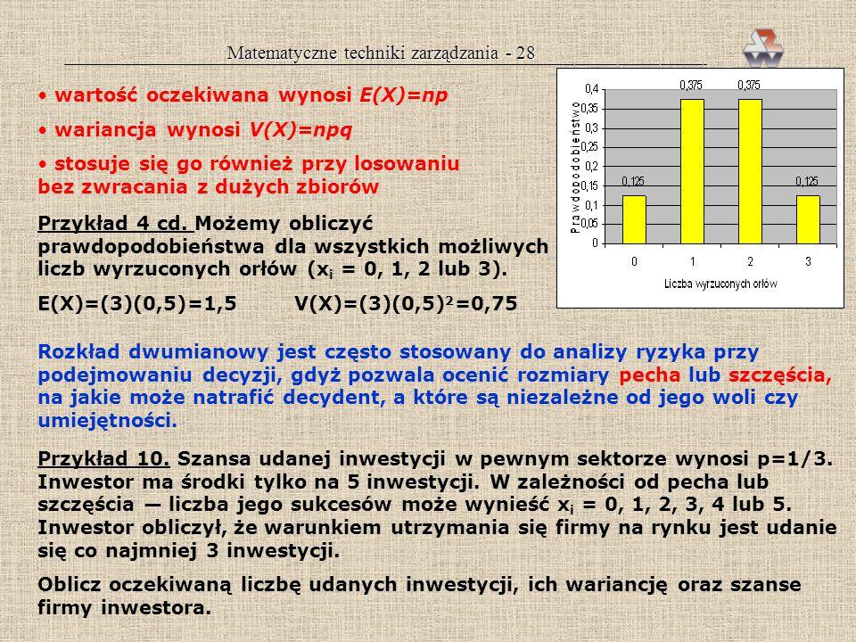 Matematyczne techniki zarządzania - 28