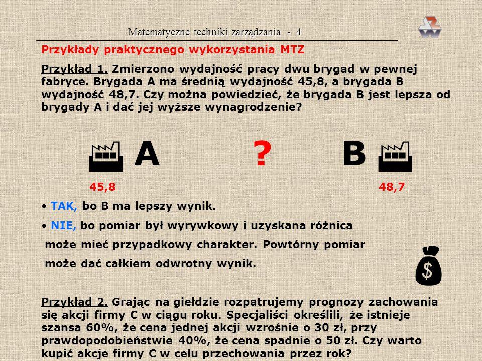 Matematyczne techniki zarządzania - 4