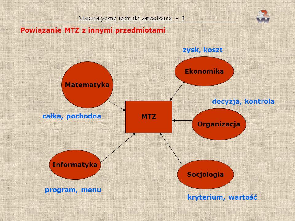 Matematyczne techniki zarządzania - 5