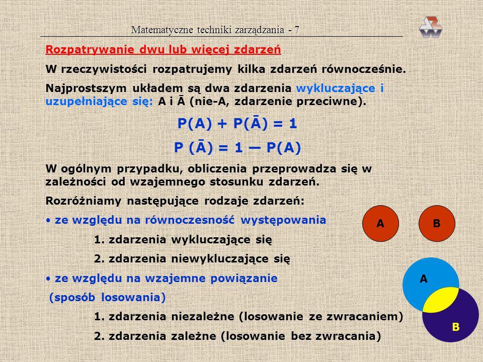 Matematyczne techniki zarządzania - 7