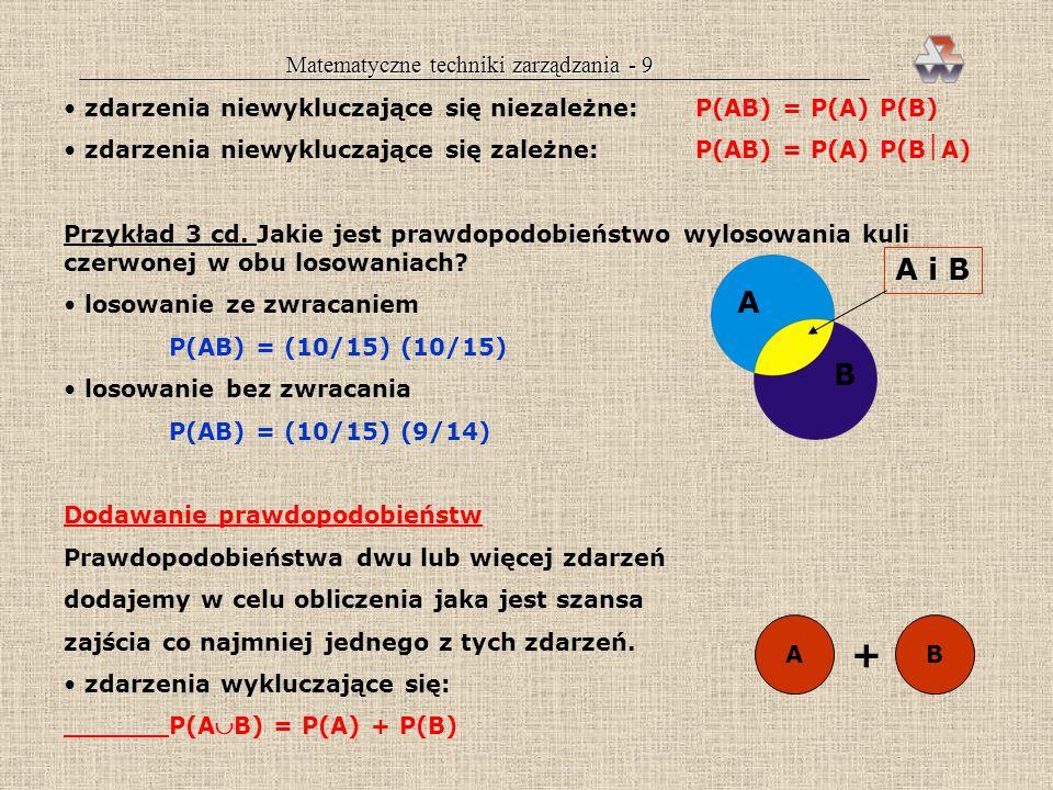 Matematyczne techniki zarządzania - 9