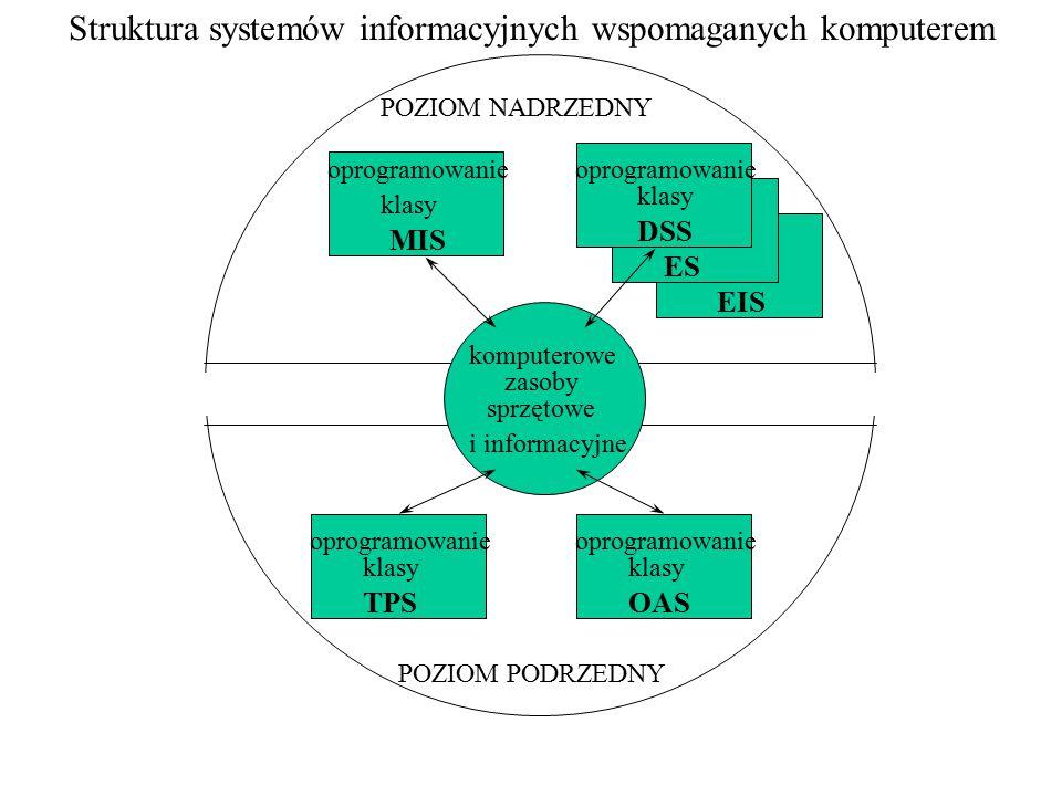 Struktura systemów informacyjnych wspomaganych komputerem
