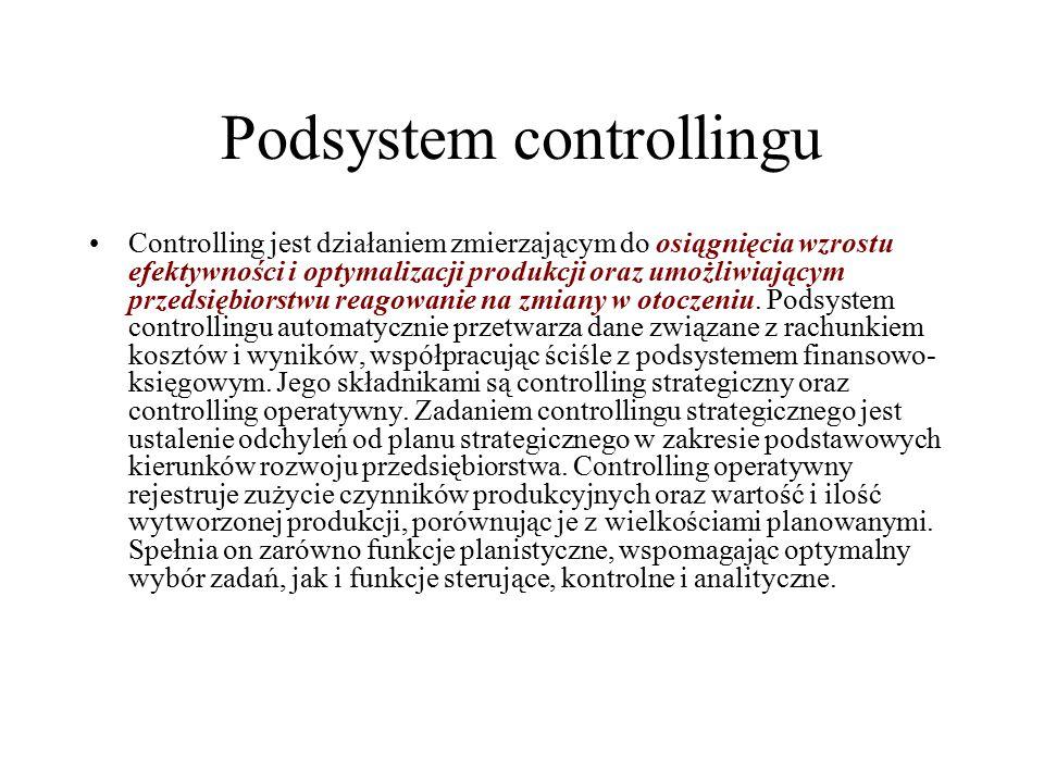 Podsystem controllingu
