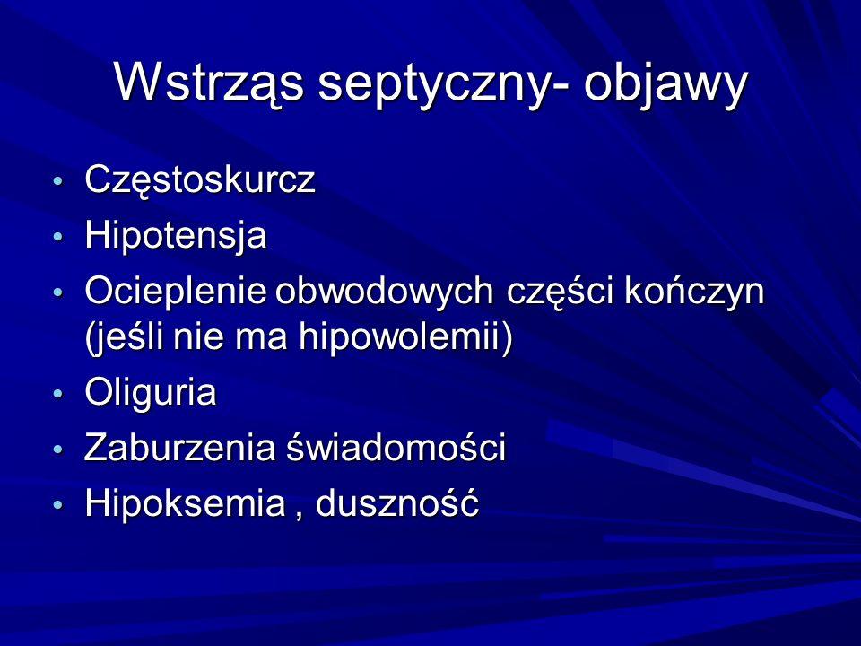 Wstrząs septyczny- objawy