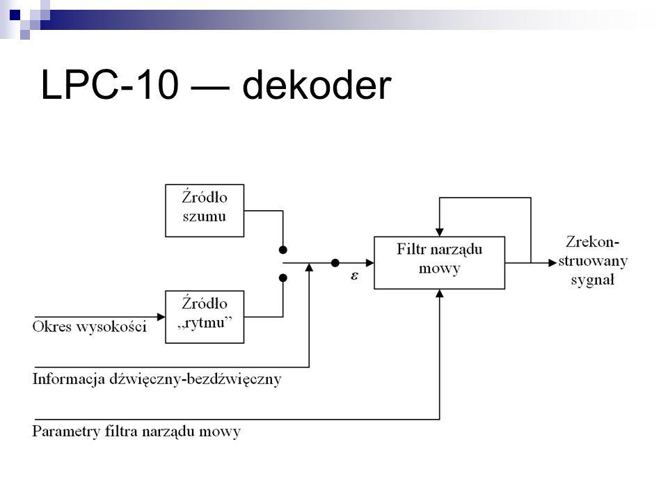 LPC-10 ― dekoder