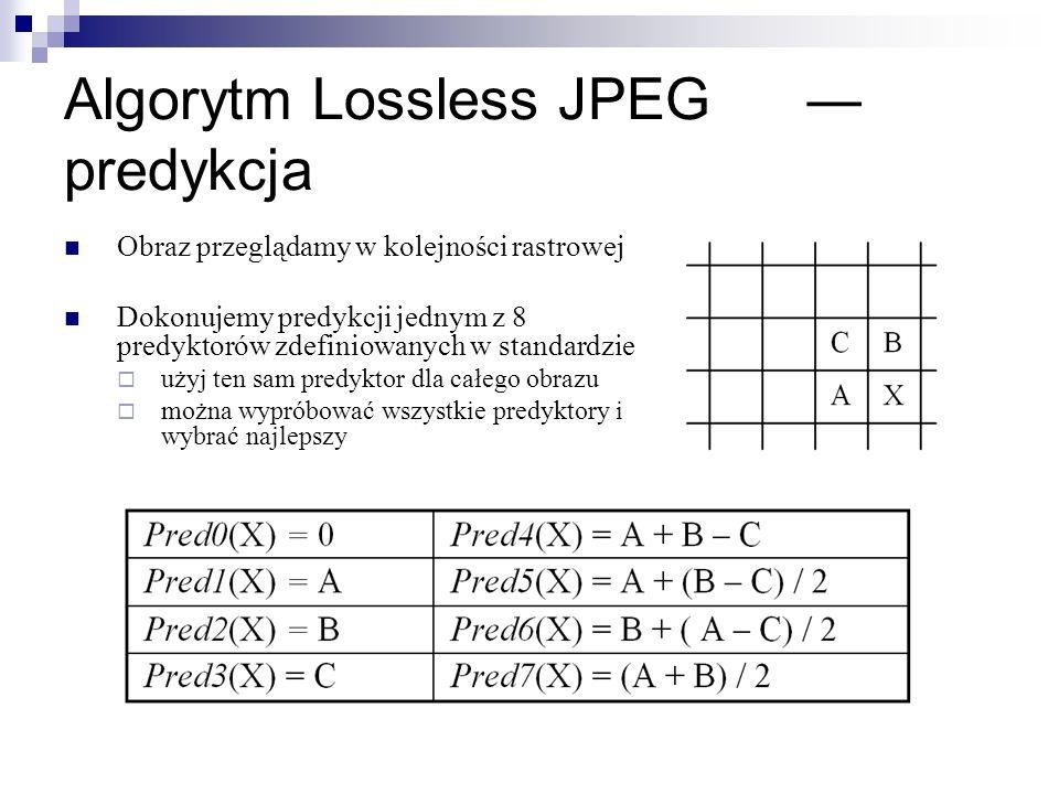 Algorytm Lossless JPEG ― predykcja