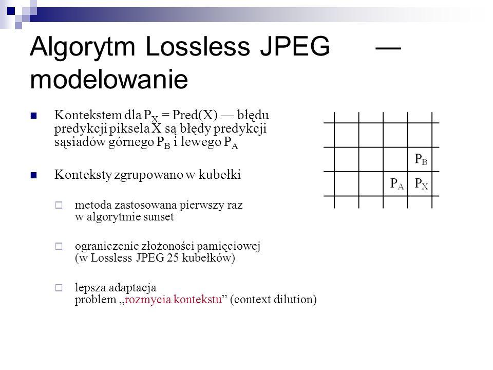 Algorytm Lossless JPEG ― modelowanie