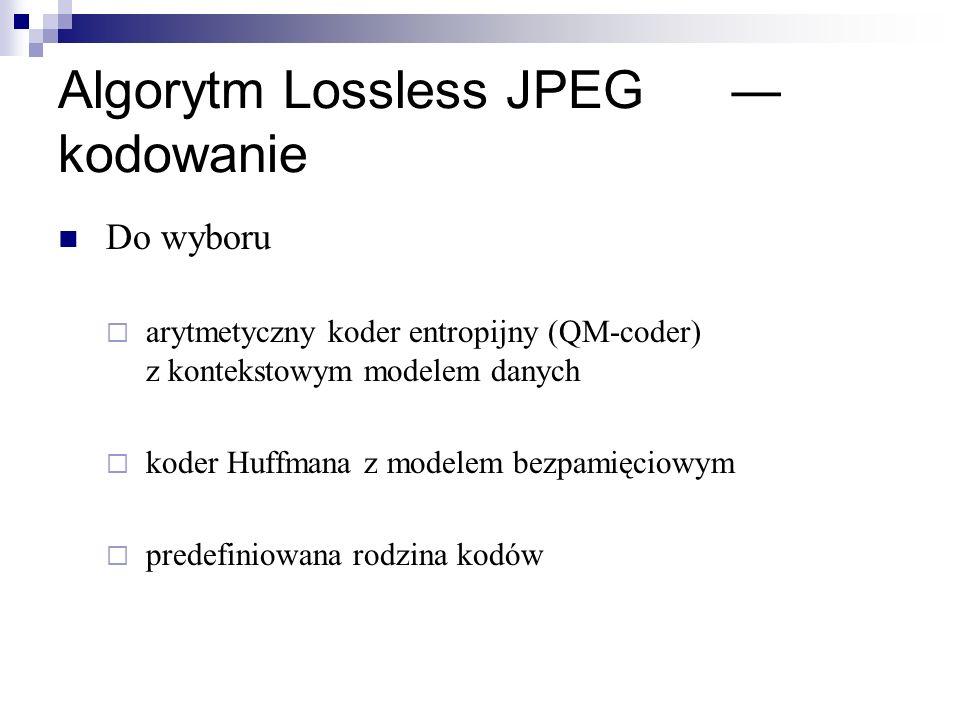 Algorytm Lossless JPEG ― kodowanie