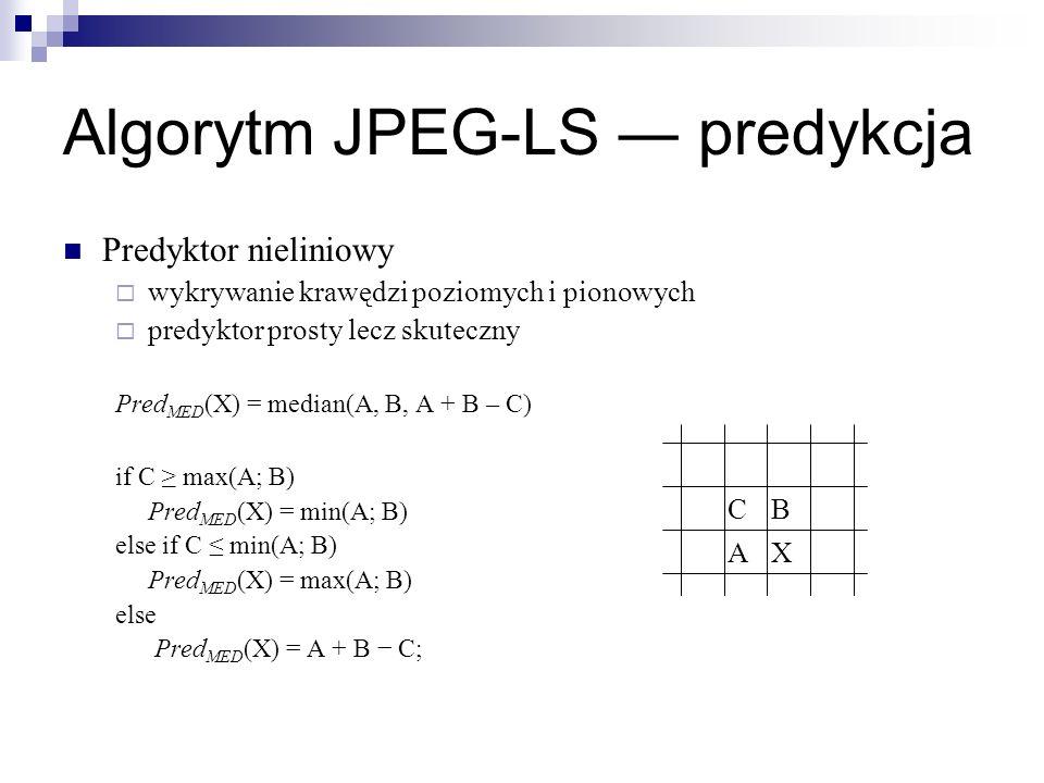 Algorytm JPEG-LS ― predykcja