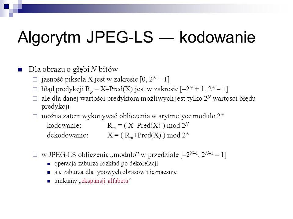 Algorytm JPEG-LS ― kodowanie