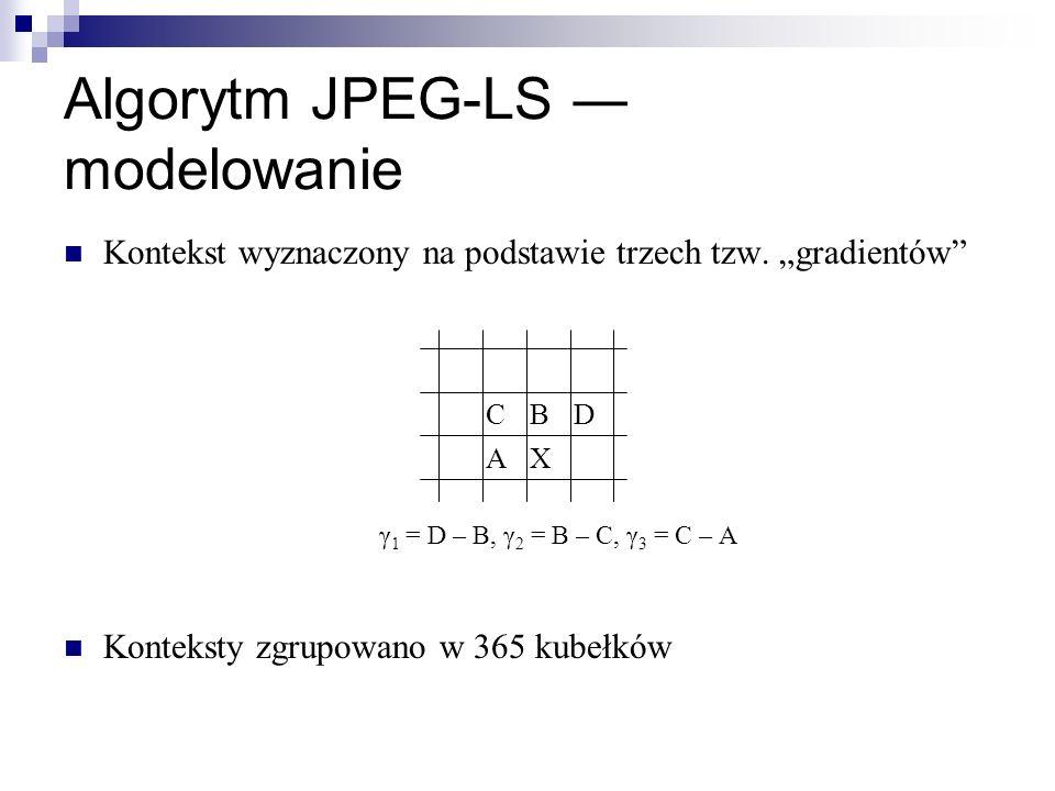 Algorytm JPEG-LS ― modelowanie