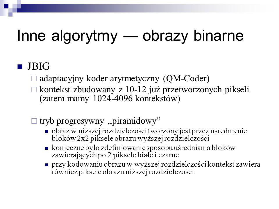 Inne algorytmy ― obrazy binarne
