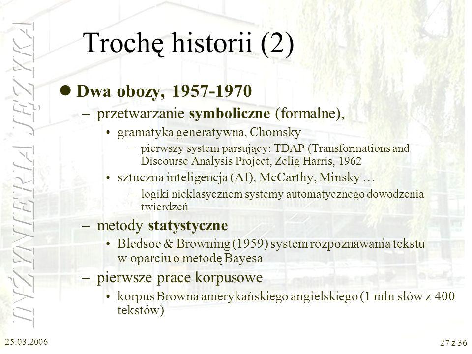 Trochę historii (2) Dwa obozy, 1957-1970